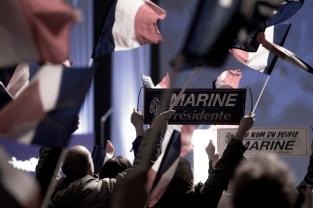 Meeting de Marine Le Pen, candidate du FN, au Zénith de la Villette, Paris, le 17 avril 2017